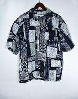 Columbia Sportswear Mens Size L Geometric Button Shirt Cotton
