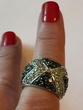 Lauren G Adams 925 Sterling Silver Crystal Dome Ring Size 7