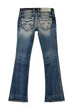 NWT Rock Revival PRISCILLA Boot Cut Embellished Rhinestone Jeans 26 x 32