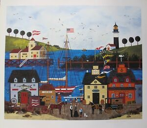 Jane Wooster Scott THE MAINE ATTRACTION Hand Signed Limited Edition Lithograph