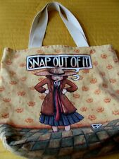 "New ListingVintage Canvas Tote Bag ""Snap Out Of It"" by Mary Engelbreit"