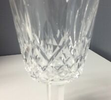 WATERFORD Pair Of Clear Crystal Lismore Pattern Large Wine Goblets Stemware SR