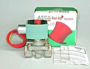 """ASCO Stainless Steel Solenoid Valve 8210G87 8210G087, 1/2"""" NPT, 120 Volt, 3UL05"""