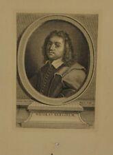Gravure XVIIIème - Portrait de Nicolaes Berchem - Gaetan Sarri - Etienne Fiquet