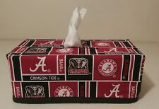 NCAA Alabama Crimson Tide Tissue Box Cover (rectangular) Handmade
