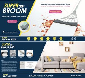 Super Broom 3 JALBI 3 in 1 Cleaning Mop Broom + Wiper + Scraper