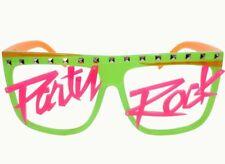 Studded LMFAO Party Rock Shades Sunglasses Green Orange Pink