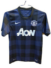 Nike Manchester United Soccer Jersey Mens Small Blue Black Tablecloth