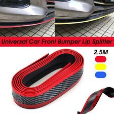 2.5M Carbon Fiber Bumper Spoiler Lip Splitter Skirt Valance Chin Body Protector