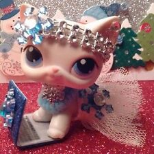 Littlest Pet Shop LPS custom outfit clothes white christmas tutu skirt (NO CAT)