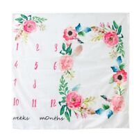 Newborn Baby Watercolor Floral Photography Background Cloth Milestone Blanket