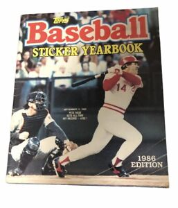 Topps 1986 Baseball Sticker Yearbook - 100 % Complete Pete Rose