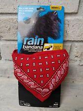 Dog Pet Sz Medium  Bandana Rain Coat Jacket