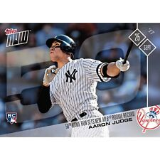 TOPPS NOW #654 AARON JUDGE BREAKS ROOKIE 50 HR RECORD - YANKEES - PASSES MCGWIRE