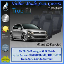 Tailor Made Seat Covers for Volkswagen (VW) Golf Hatch: from 04/2013 to Current