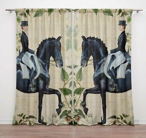 Curtain For Living Room Rod Pocket Curtain Door Double Panel Drapes-DCTD39A