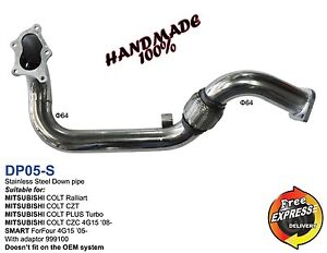 Downpipe 64mm for MITSUBISHI COLT Ralliart CZT PLUS TURBO CZC SMART FORFOUR 4G15