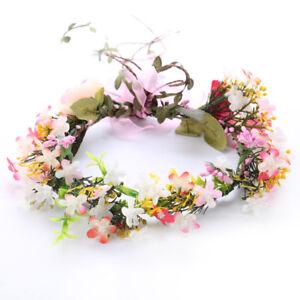 Colorful Garland Headband Hairband Flower Garland Bridal Wedding Party Wreath