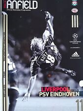 Liverpool v PSV Eindhoven Uefa Champions League 22nd Novemher 2006 Mint