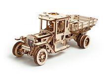 UGEARS 3D-Funktionsmodell Truck UGM-11, Holz-Bausatz mit mechanischer Funktion