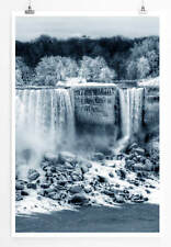60x90cm Landschaftsfotografie – Niagara Wasserfall im Winter