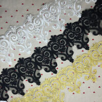 1yd Embroidery Mesh Lace Trims DIY Sewing Bride Clothing Material Supplies Decor