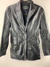Michael Michelle Black Leather Jacket Women's Size M