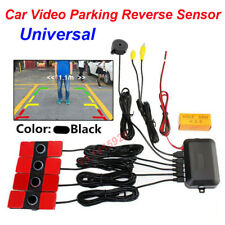 Vehicle Car Video Parking Reverse Backup Assistant Radar Alarm + 4 Flat Sensors