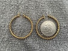 Hoop Earrings Braided Gold
