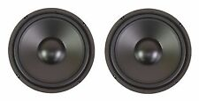 "NEW PAIR (2) 10"" Inch Bass Elegance Replacement Subwoofer Woofer Speaker 8 Ohm"