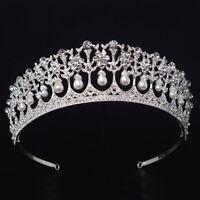 Vintage Style Mariage Perle Couronne Tiare Princesse Bandeau Accessoire