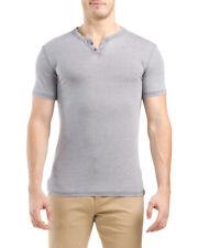 NWT Mens LUCKY BRAND Short Sleeve Venice Burnout Notch Neck Tee T-Shirt Size L