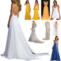 Women's Formal Long Ball Gown Party Cocktail Wedding Bridesmaid Evening Dress