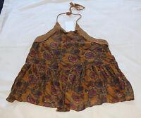 Zara Trafaluc Collection Ladies Print Halter Neck Top Size M New