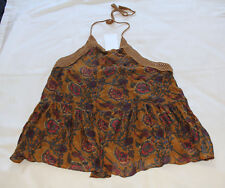 Zara Trafaluc Collection Ladies Print Halter Neck Top Size M