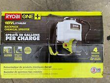 Ryobi 4 Gallon 18 Volt Cordless Backpack Chemical Sprayer NEW SHIPS TODAY!!!