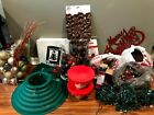 Huge lot of Christmas Tree with lights stockings decorations tree stand