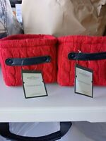 Threshold - Knit Basket Red - Threshold-5in x 7in x 6in - Lot of 2 New with tags