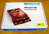 LEUCHTTURM Münzbox mit 45 eckigen unterschiedlichen Einteilungen (316 902)