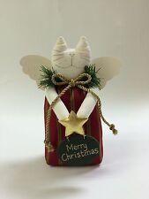Christmas Stuffed Angel Cat