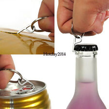 Outdoor Bottle Opener Screwdriver EDC Mini Stainless Keychain Multifunction Tool