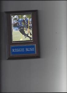 REGGIE BUSH PLAQUE DETROIT LIONS FOOTBALL NFL