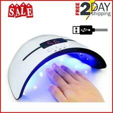 36W Lámpara Secador de Uñas Led Uv Temporizador Profesional de Gel para Manicura