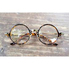 1920s Vintage Circle oliver retro 30R10 Leopard eyeglasses frames eyewear ruby