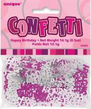 GLITZ PINK HAPPY BIRTHDAY SCATTERS/CONFETTI 14GRAMS BIRTHDAY DECO