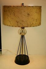 "21 1/2"" Vintage 50's Retro Sputnik Space Rocket Lamp  w/ Fiberglass Shade"