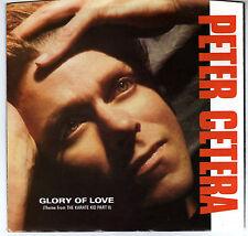 PETER CETERA: GLORY OF LOVE / ON THE LINE 45 RPM KARATE KID II COLOR SLEEVE