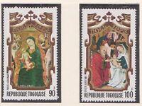 (TOB-92) 1973 Togo part 2set Christmas 90F &100F