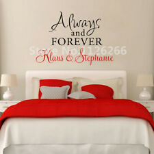 Personalized Couple Name Wall Decal Always and Forever Love Vinyl Sticker Decor