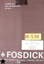 Fosdick 44 54 56 Jig Borer Operations Maintenance And Parts Manual